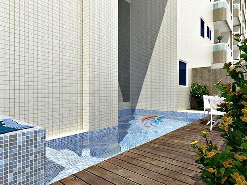 apartamento 2 dormitórios, sendo 1 suite, ocian, praia grande, sp - ap0375