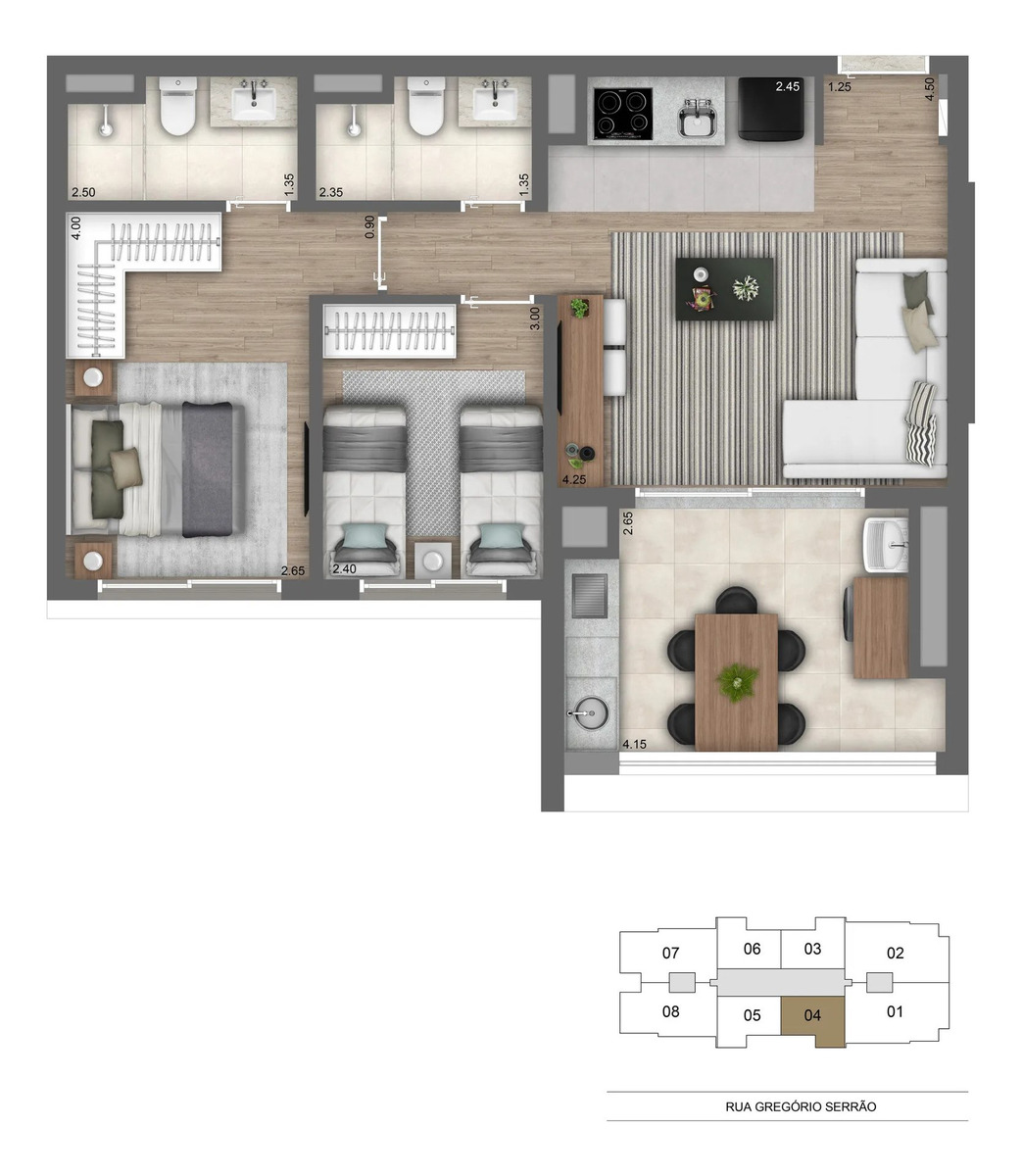 apartamento 2 dormitórios vila mariana