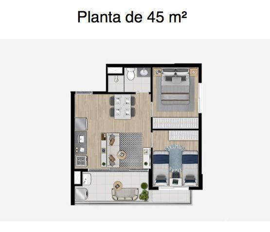 apartamento 2 dorms