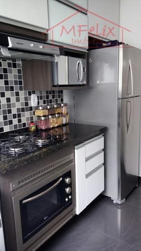 apartamento 2 dorms, excelente acabamento, com armários planejados em guarulhos. - ap0597