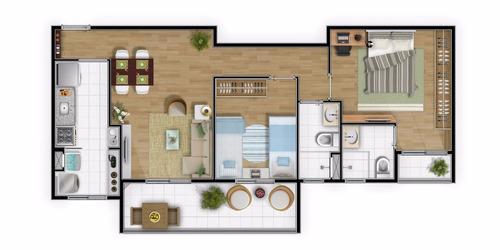 apartamento 2 dorms suíte sacada gourm centro são bernardo