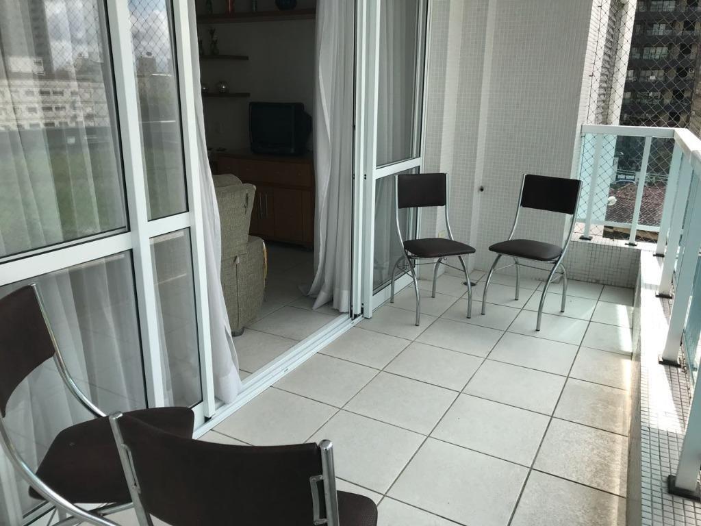 apartamento 2 ds (1 ste) com lazer e saida direta para orla da  praia - ap0856