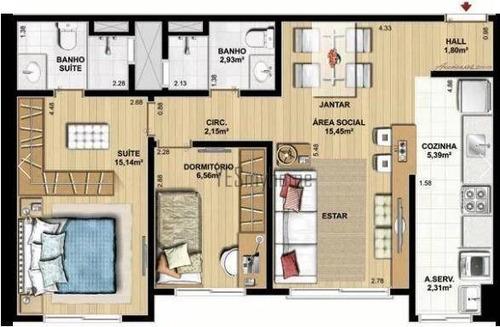 apartamento 2 quartos com suíte, santa quitéria, condomínio clube - ap2054