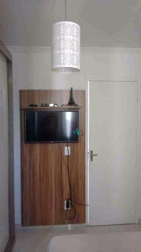 apartamento 2 quartos, em campo grande, rj - condomínio califórnia 1 - ap0041