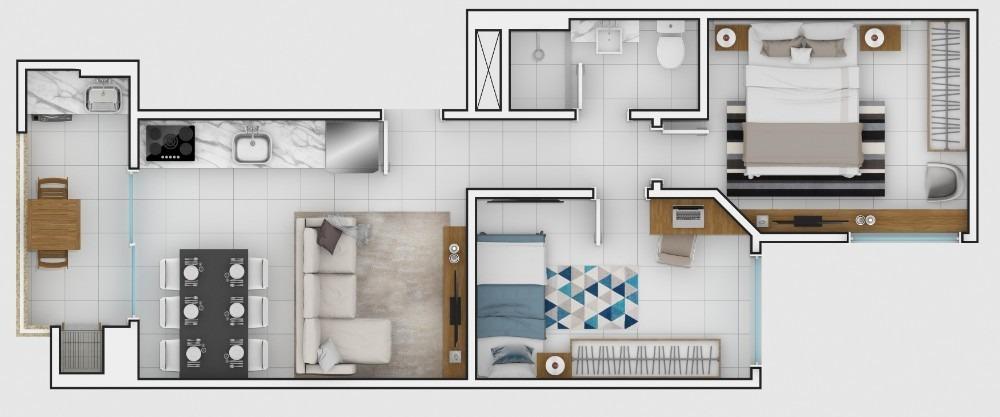 apartamento 2 quartos em itajai