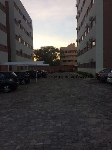 apartamento 2 quartos para venda em teresina, são cristovão, 2 dormitórios, 1 suíte, 2 banheiros, 1 vaga - apto  2q torres del paine