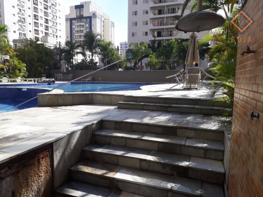 apartamento 244 m², 4 dormitórios, sendo 2 suítes, sala 3 ambientes, 5 banheiros, 4 vagas, lazer completo r$ 2.100.00,00 - ap45534