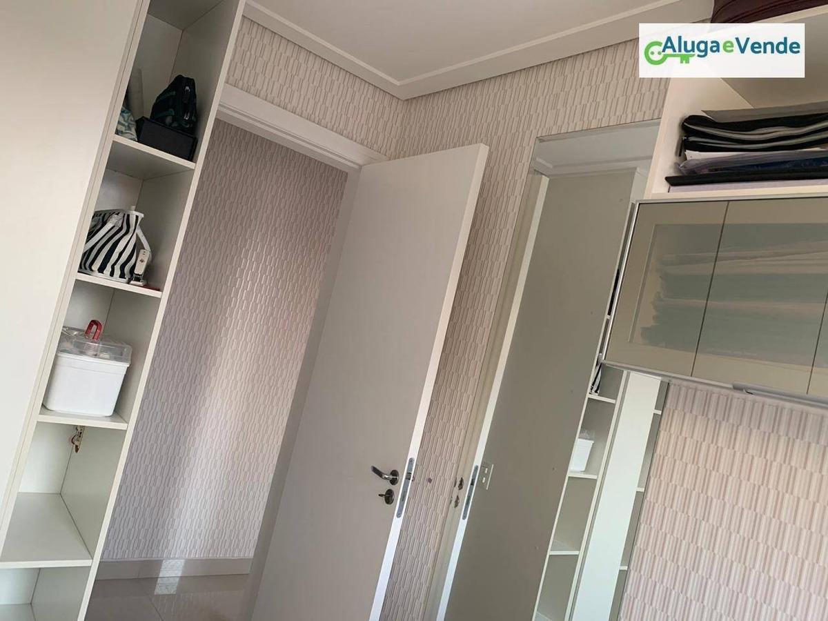 apartamento 3 dormitórios 1 suíte à venda no condomínio mais guarulhos, 64 m² por r$ 330.000 - jardim bela vista - guarulhos/sp - ap0145