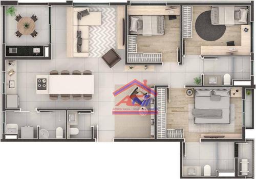 apartamento 3 dormitórios, 120 m²- cambuí - campinas/sp - origem cambuí - ap0063