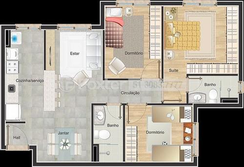 apartamento, 3 dormitórios, 65.9 m², vila monte carlo - 189024