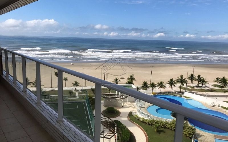 apartamento 3 dormitórios com suíte  frente mar em praia grande