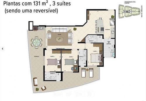 apartamento 3 dormitórios, módulo 8 - riviera de são lourenço - ap1746