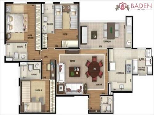 apartamento 3 dormitórios, sendo 3 suítes - ap02806