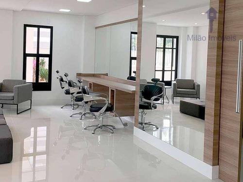 apartamento 3 dormitórios à venda, 85m², edifício luzes, pq. campolim em sorocaba/sp - ap0848