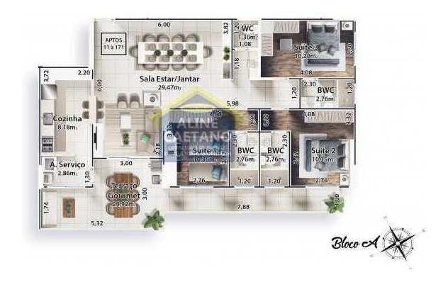 apartamento 3 dorms, boqueirão,praia grande-r$ 764 mil, jg1049 - vjg021049