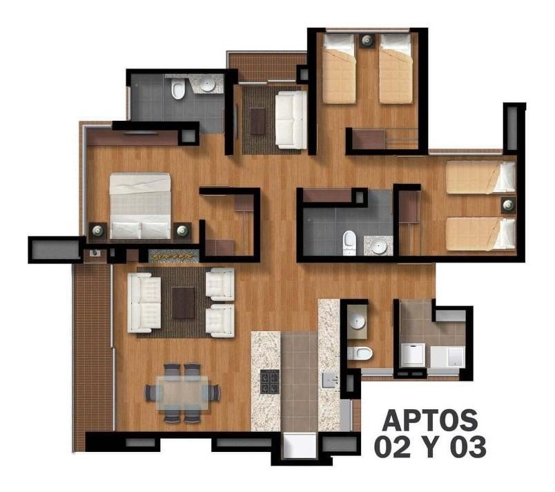 apartamento 3 habitaciones la colina