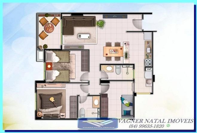 apartamento 3 quartos a preço de custo parcelas r$ 890,00