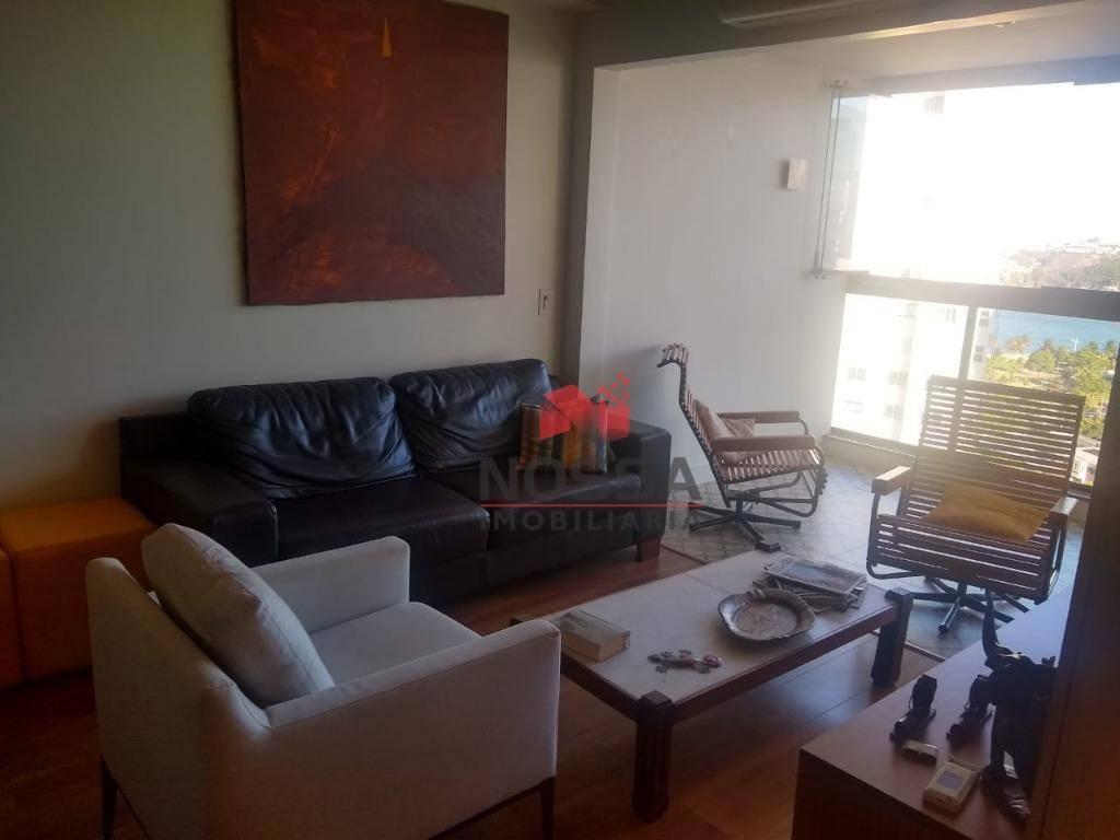 apartamento 3 quartos com linda vista para o mar , na praia do canto - ap0593