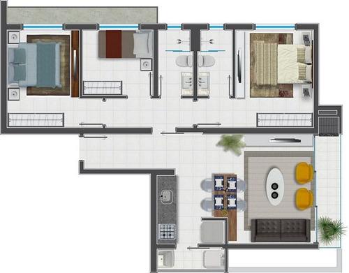 apartamento 3 quartos costa e silva
