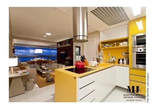 apartamento 3 quartos sendo 2 suítes decorado e mobiliado 110m2 no porto trapiche - bru765 - 34368740