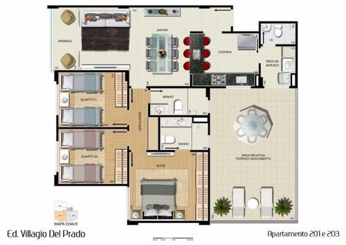 apartamento 3 quartos à venda, 3 quarto(s), belo horizonte/mg - 6503