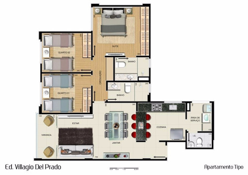 apartamento 3 quartos à venda, 3 quarto(s), belo horizonte/mg - 6507