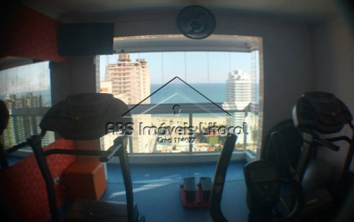 apartamento 3 suítes no canto do forte praia grande - sp - ap 868