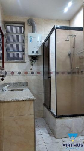 apartamento 3q. copacabana, posto 6 à 100m da praia. locação ( dependência) - 301