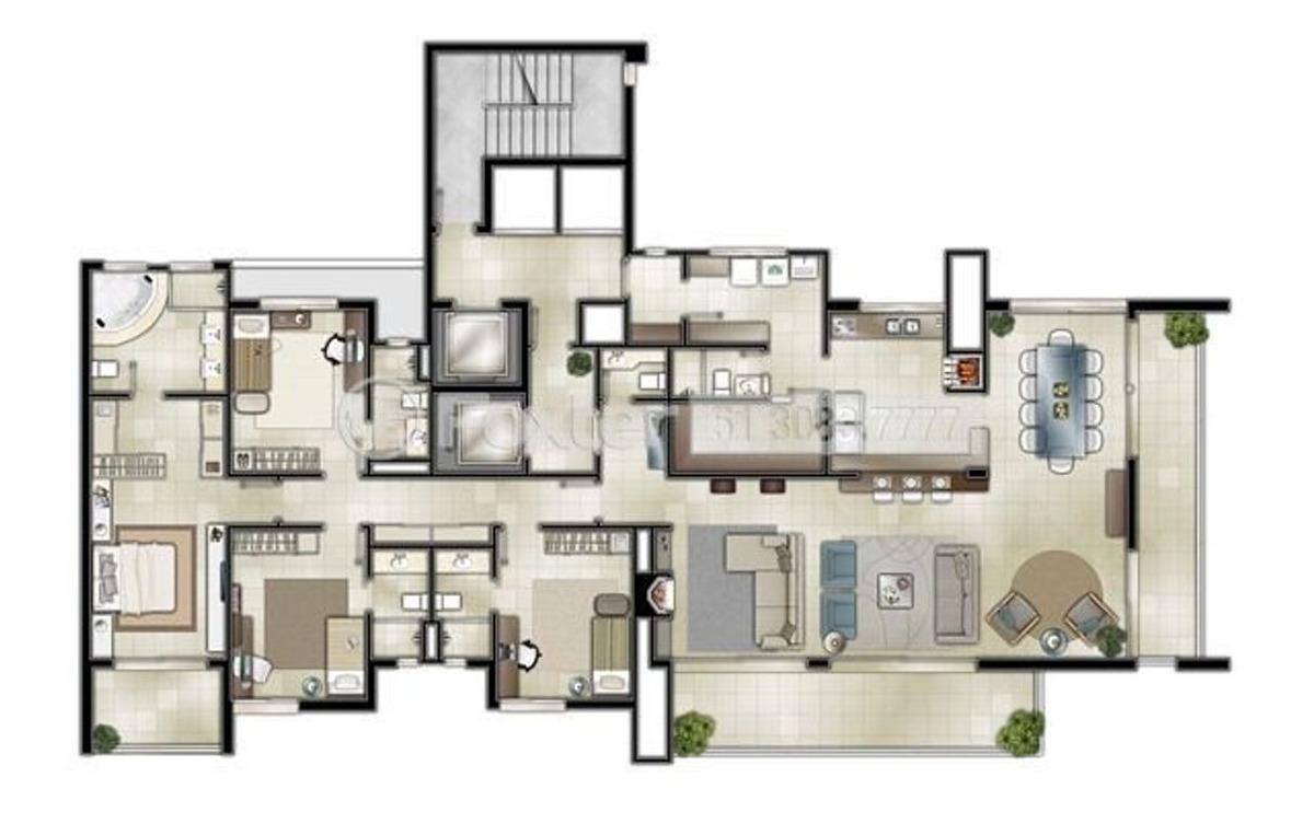 apartamento, 4 dormitórios, 230 m², praia grande - 155290