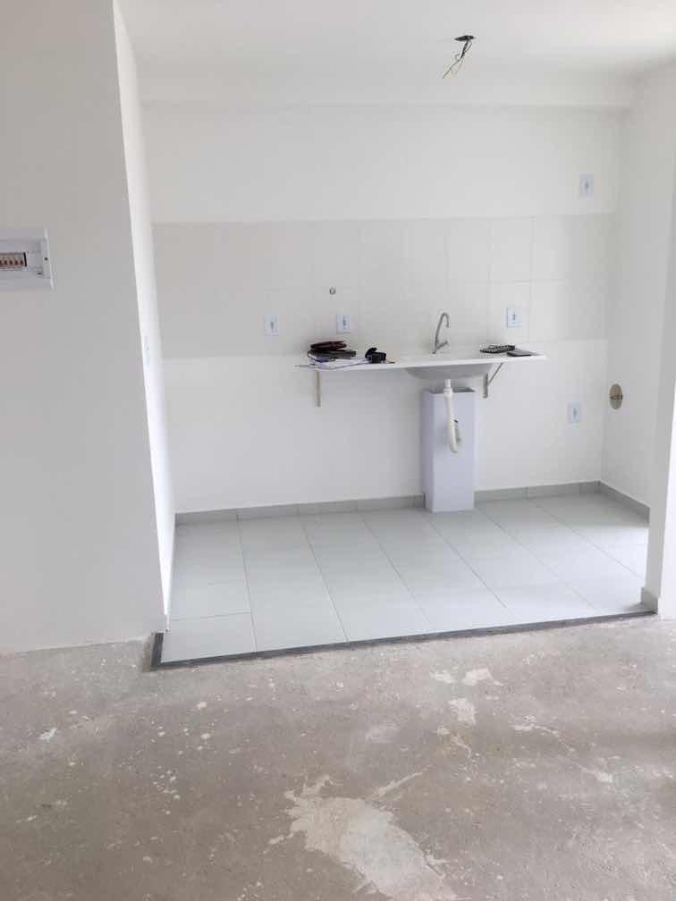 apartamento 45 m2, dois dormitórios.