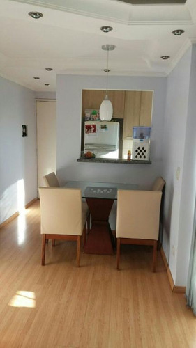 apartamento 50m², 2 dormitórios, 2 vagas, torre única, vila príncipe de gales, santo andré. - ap1454