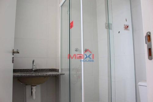 apartamento 53 m², condomínio uno residencial, 2 dormitórios, 1 suite, 1 banheiro, 1 vaga, quitaúna, osasco. - ap0959