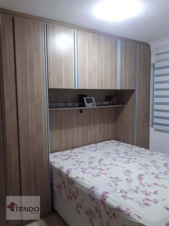 apartamento 55 m² - 2 dormitórios - 1 suíte - vila planalto - são bernardo do campo/sp - ap0085