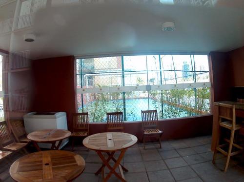 apartamento 64m² cond. park club jardim, 2 dormitórios, suite, ótima vista, bairro jardim, santo andré - ap1310