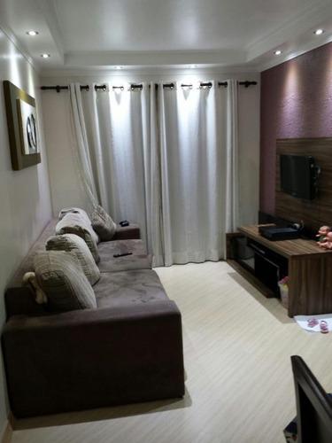 apartamento 65m², 3 dormitórios, cozinha planejada, andar alto,  vila camilópolis, santo andré. - ap1442