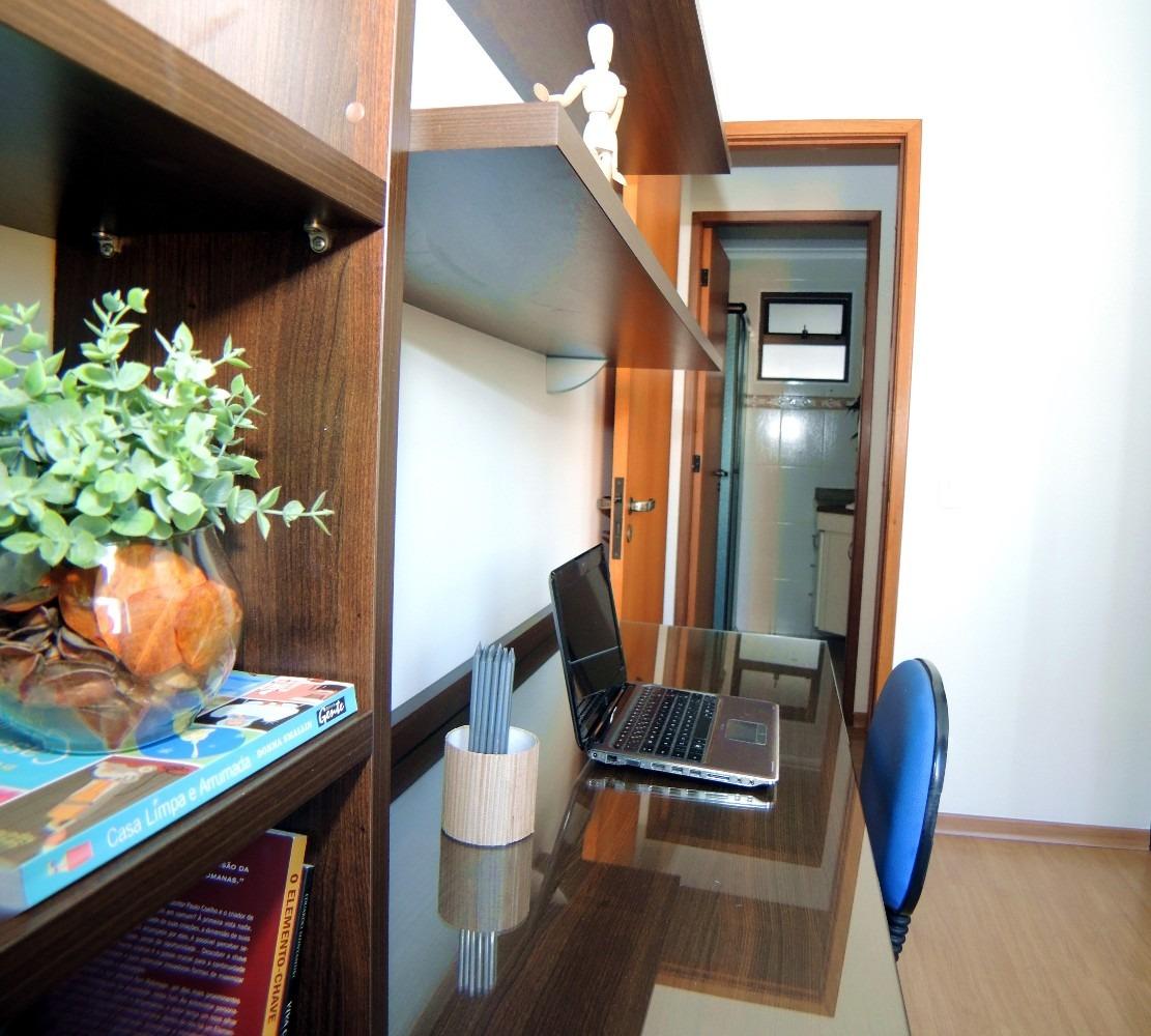 apartamento 74m2  pq das nações, santo andré, 3 dormitórios