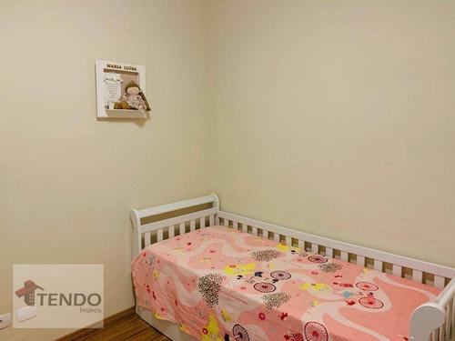 apartamento 78 m² - 2 dormitórios - campestre - santo andré/sp - ap0665