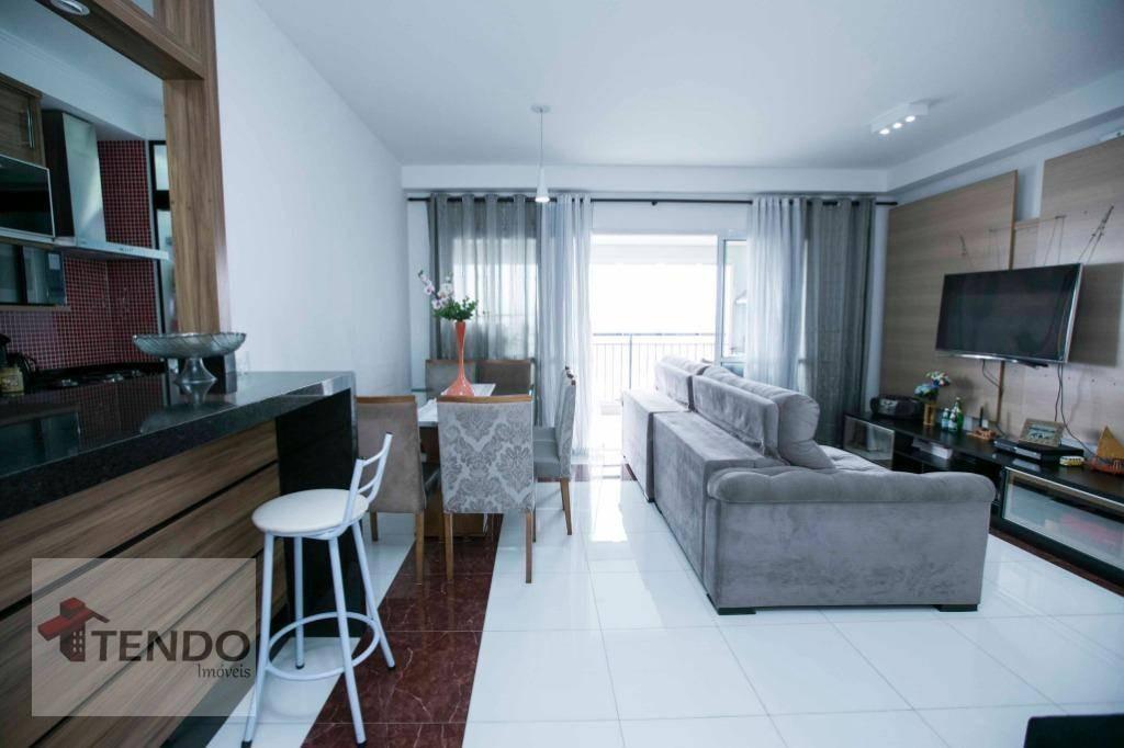 apartamento 82 m² - 2 dormitórios - 1 suíte - independência - são bernardo do campo/sp - ap0705