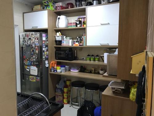 apartamento 85m², 3 dormitórios, móveis planejados, chácara inglesa, são bernardo do campo. - ap1523