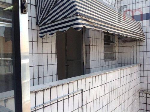 apartamento a 1 quadra da praia à venda, boqueirão, santos - ap0179. - ap0179