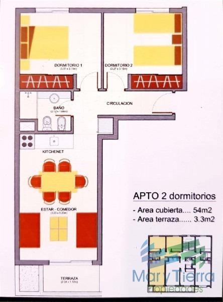 apartamento a estrenar de 2 dormitorios en venta en maldonado-ref:2118
