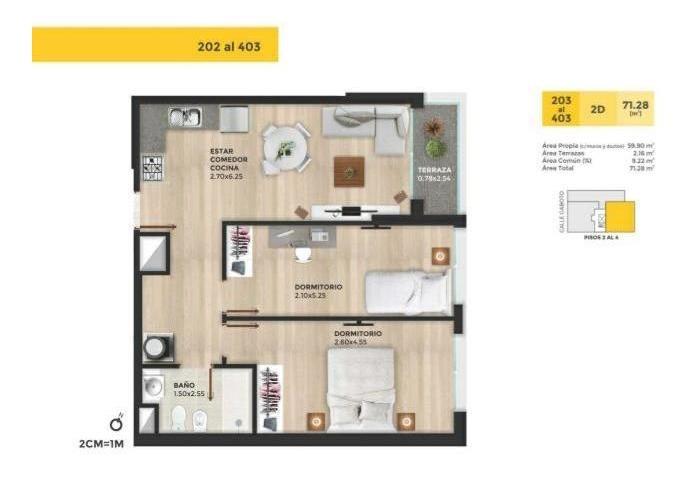 apartamento a estrenar en el cordon 2 dormitorios mas terraz