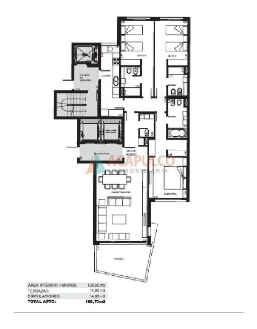 apartamento a la venta roosevelt - excelente edificio-ref:1831