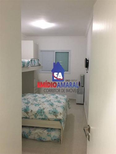 apartamento a venda, 1 dormitório, caiçara,  praia grande,/sp - ea48