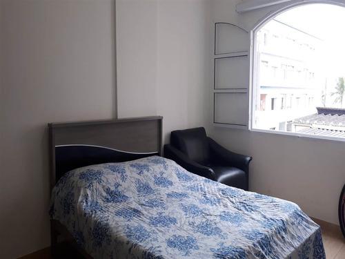 apartamento a venda, 1 dormitório, vila tupi, praia grande/sp - em91