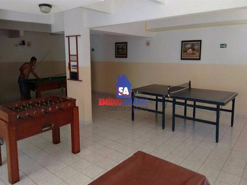 apartamento a venda, 2 dormitorios, cidade ocian, praia grande/sp - ea61
