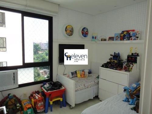 apartamento a venda cidade jardim, salvador 3 quartos sendo uma suite com closet, sala, varanda, área de serviço, cozinha, 2 vagas, 98 m². - ap00833 - 32446311