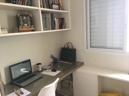 apartamento a venda em mogi das cruzes, chácara jafet, 3 dormitórios, 1 suíte, 3 banheiros, 2 vagas - ap087