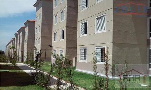 apartamento a venda em mogi das cruzes, guaio, 2 dormitórios, 1 banheiro, 1 vaga - 158