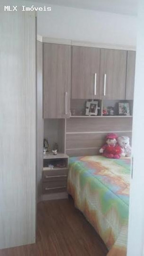 apartamento a venda em mogi das cruzes, parque santana, 2 dormitórios, 1 suíte, 1 banheiro, 1 vaga - 1069